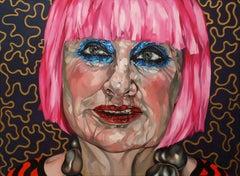 Zandra colour burst, Painting, Oil on Canvas