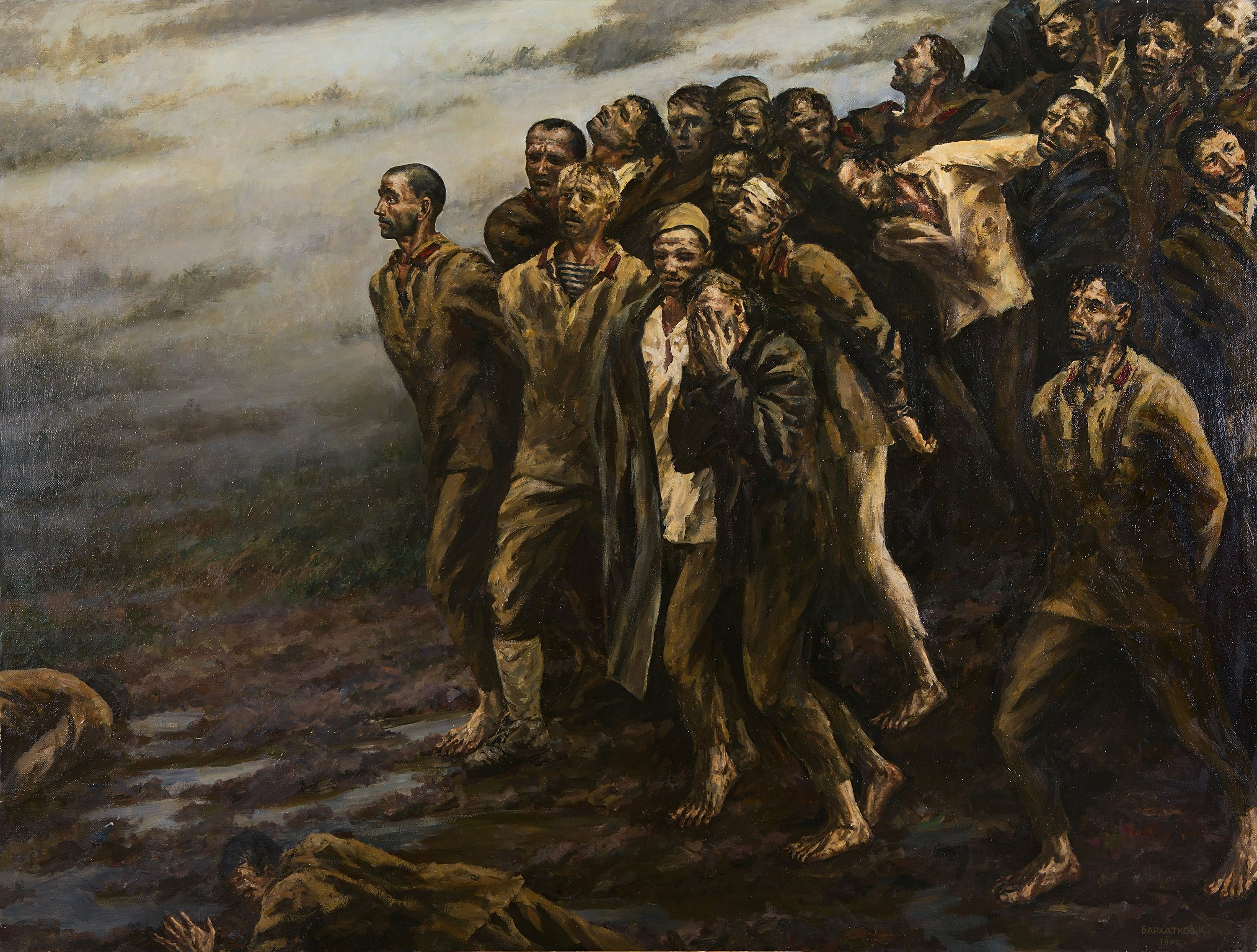 Prisoners of War, Painting, Oil on Canvas