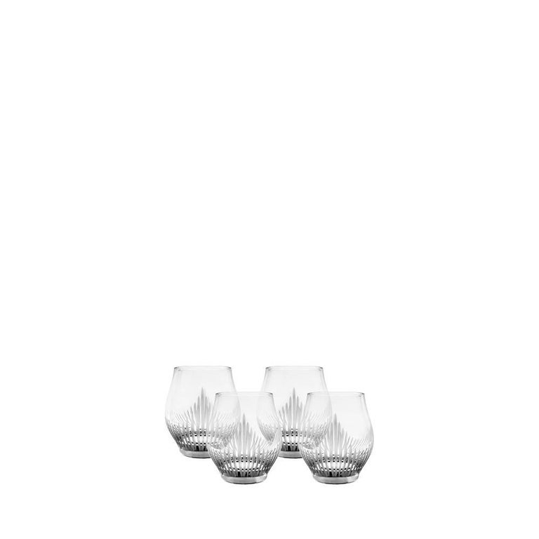 Lalique 100 Points Set of Four Shot Glasses in Clear Crystal