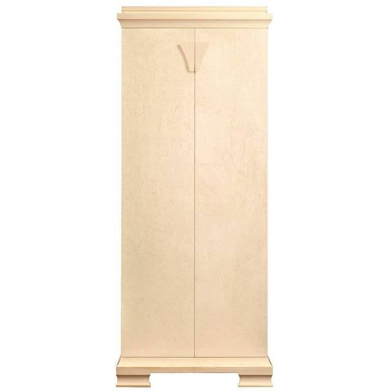 "Agresti ""Gioia Crema"" Contemporary Armored Jewelry Armoire Safe"
