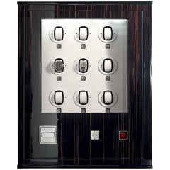 Agresti Forziere Delle Ore Contemporary Armored Chest Safe with Watch Winders