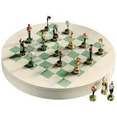 Golf Inspired Chess Set in White Bird's-Eye Maple by Agresti