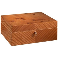 Briar Men's Jewelry Box with Ultrasuede Lining by Agresti