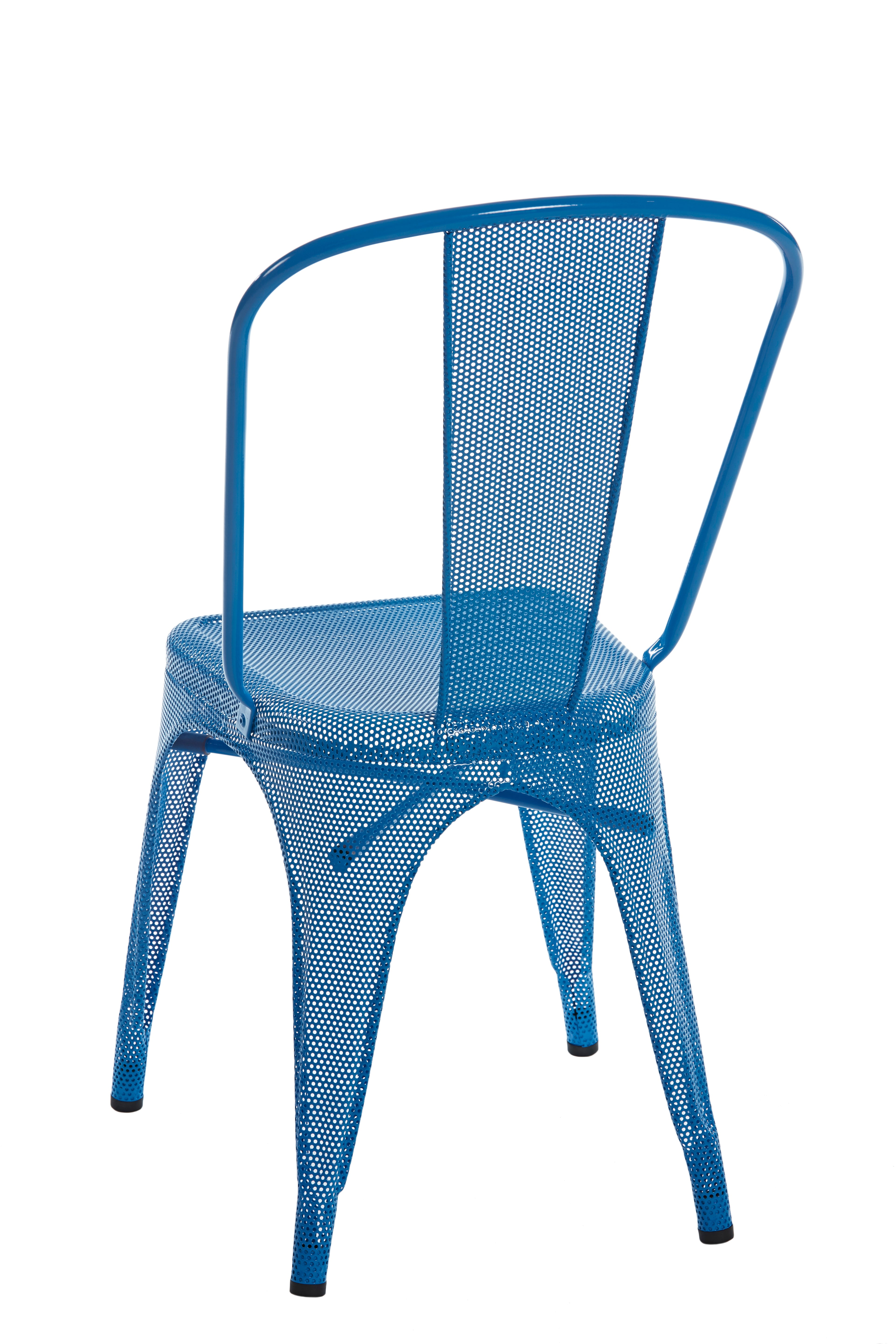 A Chair Perforated in Sky Blue by Xavier Pauchard and Tolix For Sale