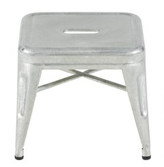H Stool 30 in Glavanized Steel by Chantal Andriot & Tolix