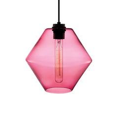 Trove Rose Handblown Modern Glass Pendant Light, Made in the USA