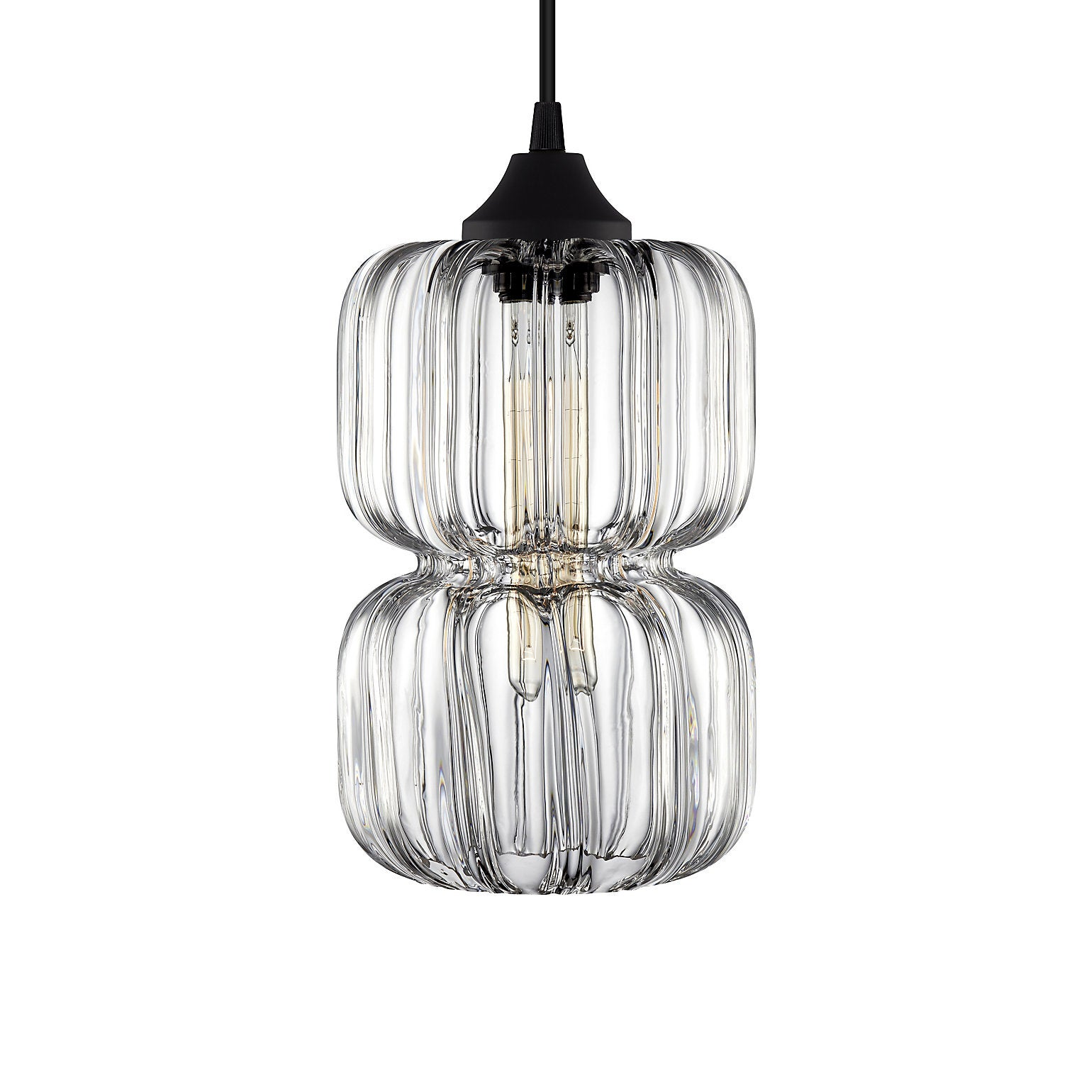 Pinch Prisma Gray Handn Modern Gl Pendant Light Made In The Usa For At 1stdibs