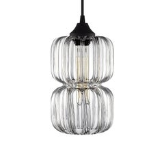 Pinch Prisma Optique Handblown Modern Glass Pendant Light, Made in the USA