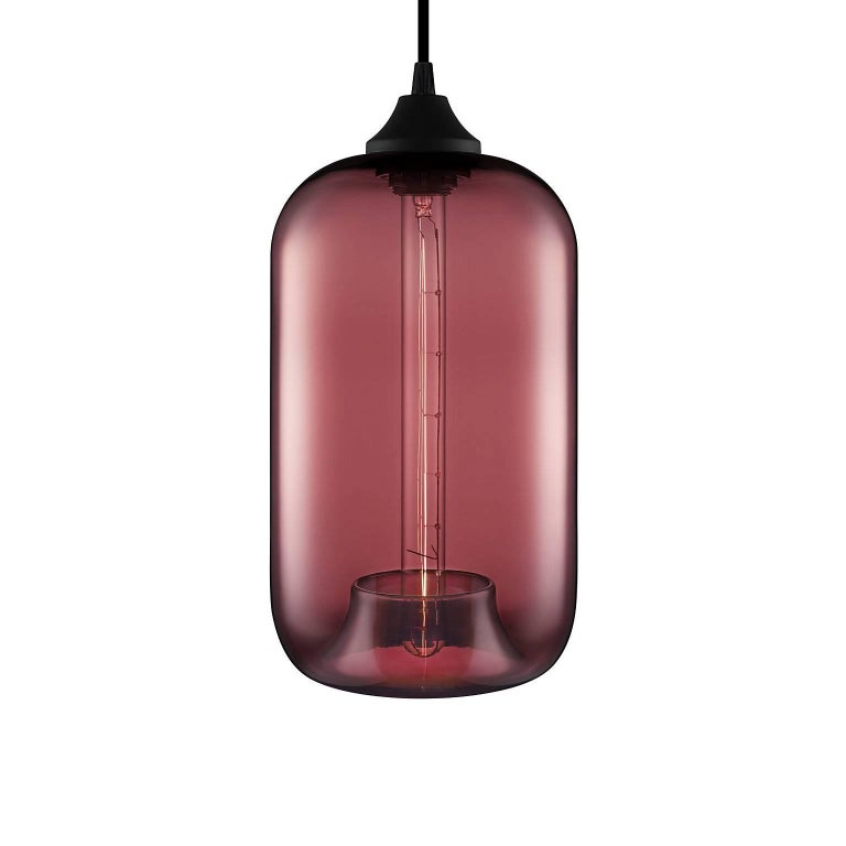 American Pod Smoke Handn Modern Gl Pendant Light Made In The Usa For