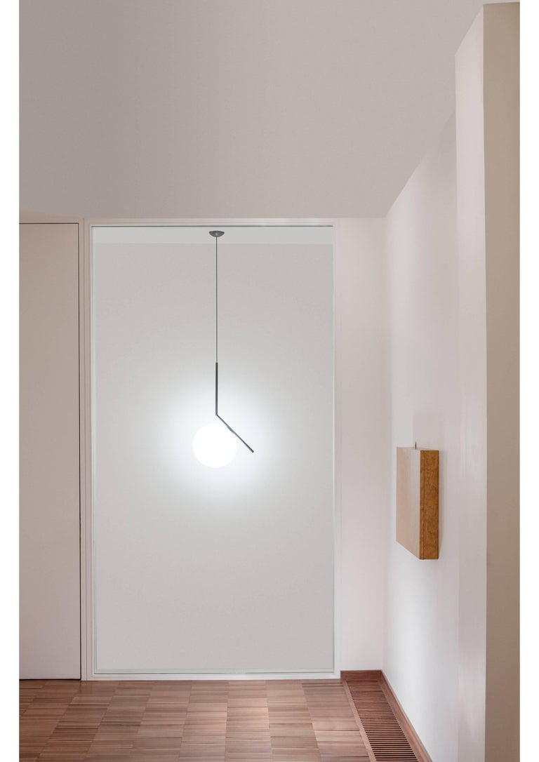 Modern FLOS IC Lights S2 Pendant Light in Chrome by Michael Anastassiades For Sale