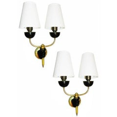 Pair of 1950 French Sconces by Andre Arbus