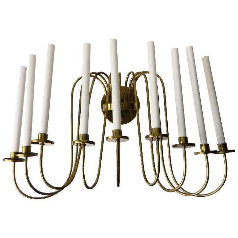 Tommi Parzinger Style Brass Sconce