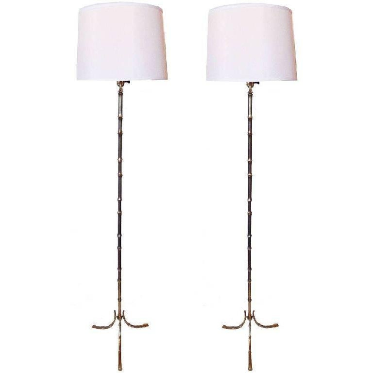 Pair of Maison Baguès Floor Lamps
