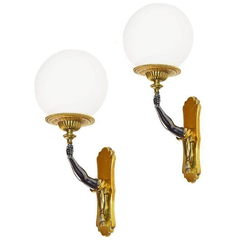 Maison Charles et Fils Pair of Sconces. Priced by Pair