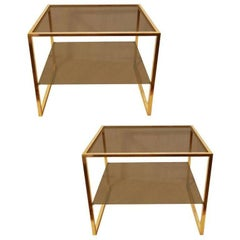 Pair of Guy Lefevre for Maison Jansen Side Tables