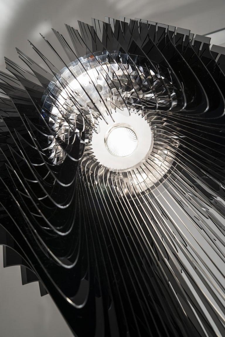 Italian SLAMP Avia Extra Large Pendant Light in Black by Zaha Hadid For Sale