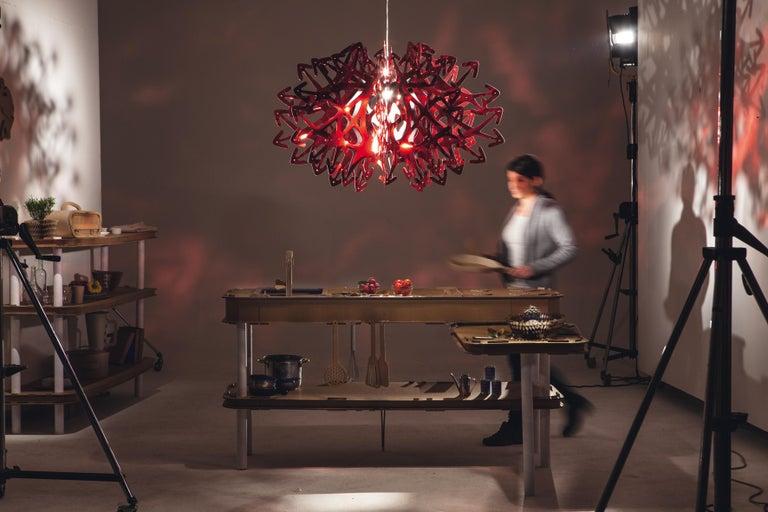 Modern SLAMP Devil Pendant Light in Red by Nigel Coates For Sale