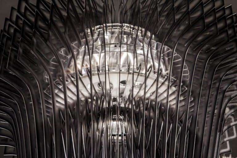 Italian SLAMP Aria Extra Large Pendant Light in Black Shade by Zaha Hadid For Sale