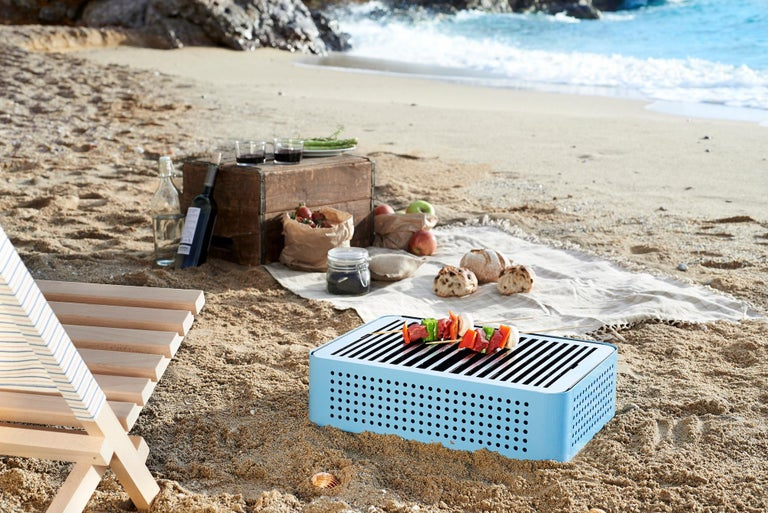 Spanish RS-Barcelona Mon Oncle Barbecue in Blue by Mermelada Estudio For Sale