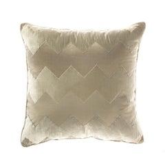 Gianfranco Ferré Alameda Pillow in Beige Velvet