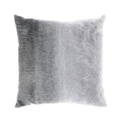 Gianfranco Ferré Precious Astrakan Pillow in Grey Fabric with Mohair
