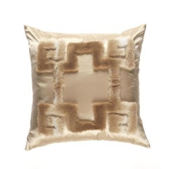 Gianfranco Ferré Athena Positive Pillow in Beige Orylag Fur