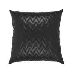 Gianfranco Ferré Emil Pillow in Black Leather