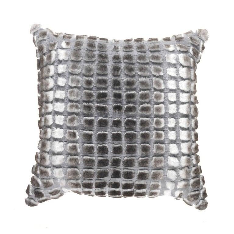 Gianfranco Ferré Kirah Boucle Pillow in Grey Orylag Fur