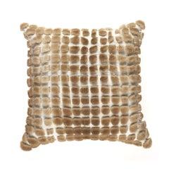 Gianfranco Ferré Kirah Boucle Pillow in Beige Orylag Fur