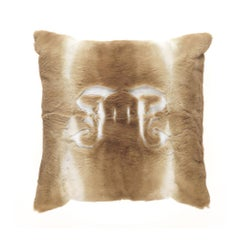 Gianfranco Ferré Kirah Gothic Pillow in Beige Orylag Fur