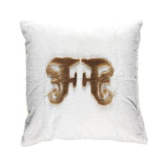 Gianfranco Ferré Kirah Gothic Pillow in White Orylag Fur