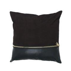 Gianfrano Ferré Missie Pillow in Dark Brown Suede