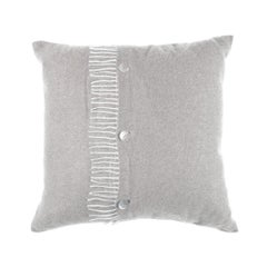 Gianfranco Ferré Sindia Pillow in Silver Cashmere