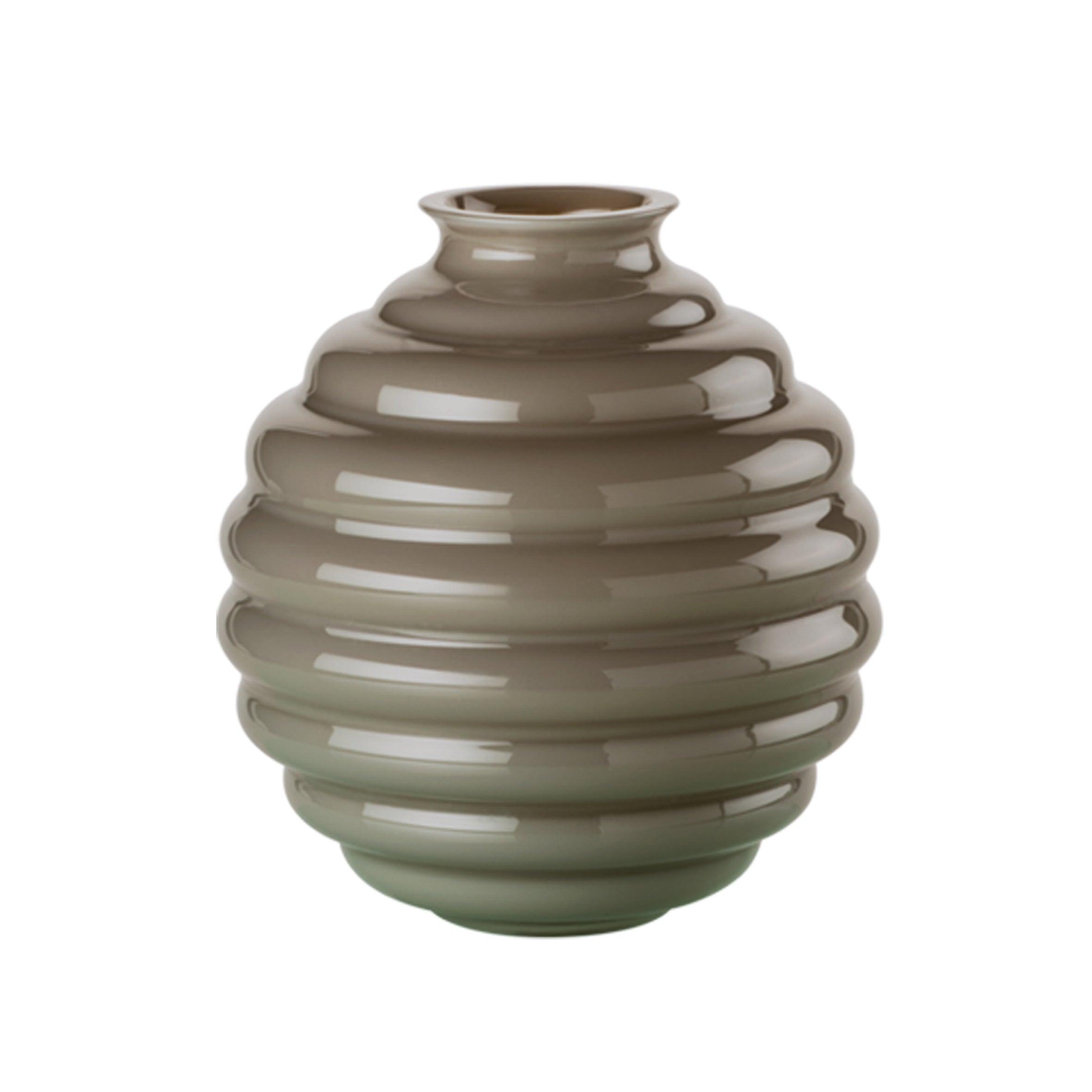 Venini Deco Glass Vase in Grey by Napoleone Martinuzzi