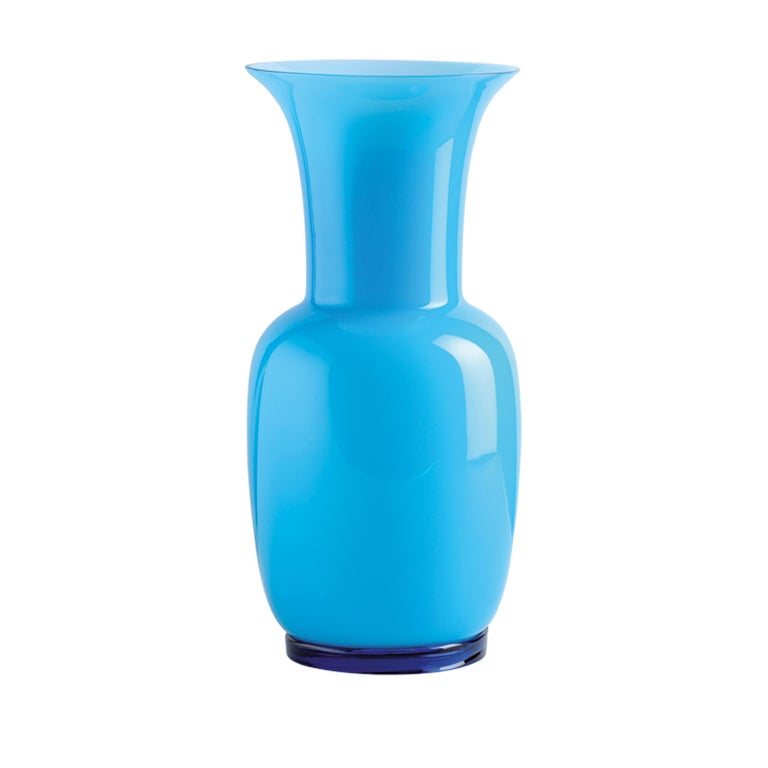 Opalino Glass Vase In Sand By Venini For Sale At 1stdibs