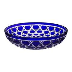 Saint-Louis Royal Alep Dark Blue Crystal Table Centerpiece