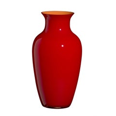 Standard I Cinesi Vase in Bright Red by Carlo Moretti