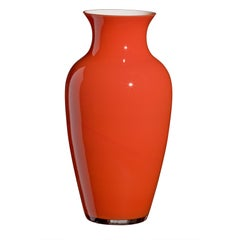 Large I Cinesi Vase in Orange by Carlo Moretti