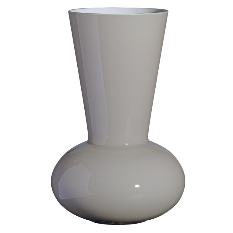 Large Troncosfera Vase In Grey By Carlo Moretti For Sale At 1stdibs