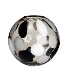 Sfera Vase in White, Grey and Black by Carlo Moretti