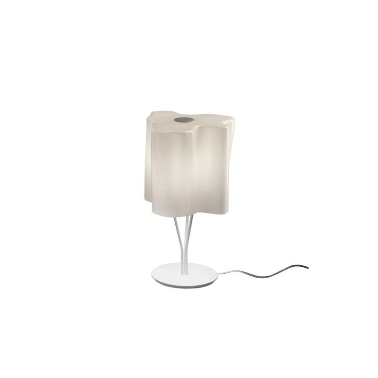 Logico Mini Table Lamp in Gray Smoke by Gerhard Reichert & Michele De Lucchi