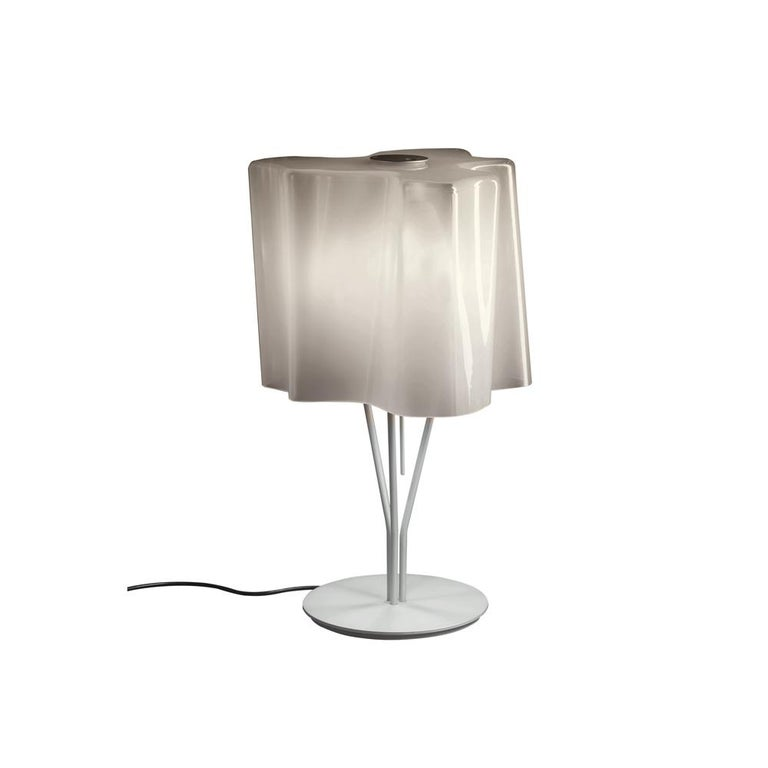 Logico Table Lamp in Gray Smoke by Gerhard Reichert & Michele De Lucchi