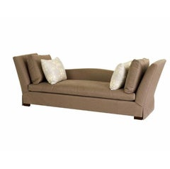 Donghia Bond Street Daybed in Brown Silk & Cotton Upholstery