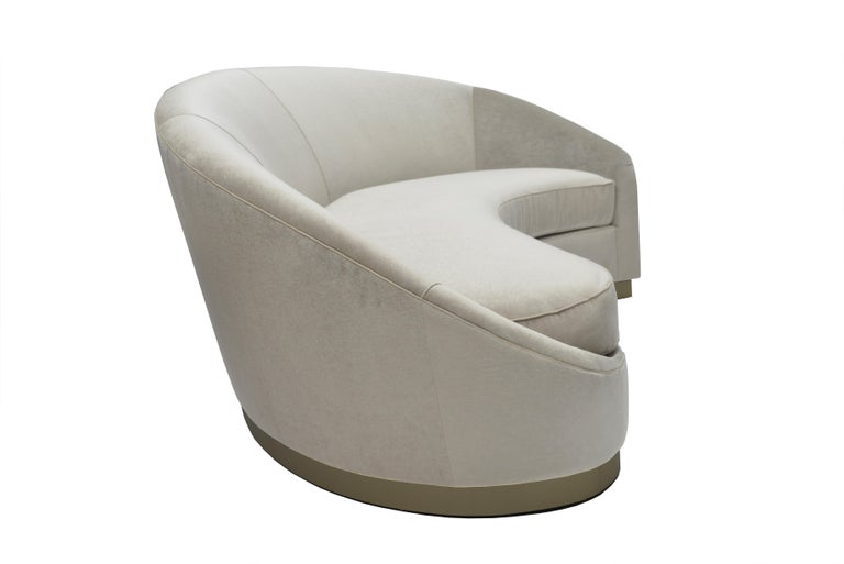 Modern Donghia Curve Sofa in Gray Ash Upholstery For Sale