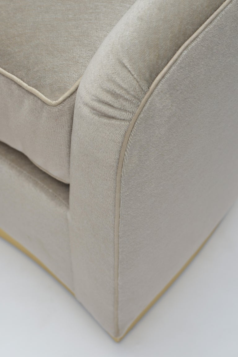 Donghia Curve Sofa in Gray Ash Upholstery In Excellent Condition For Sale In New York, NY
