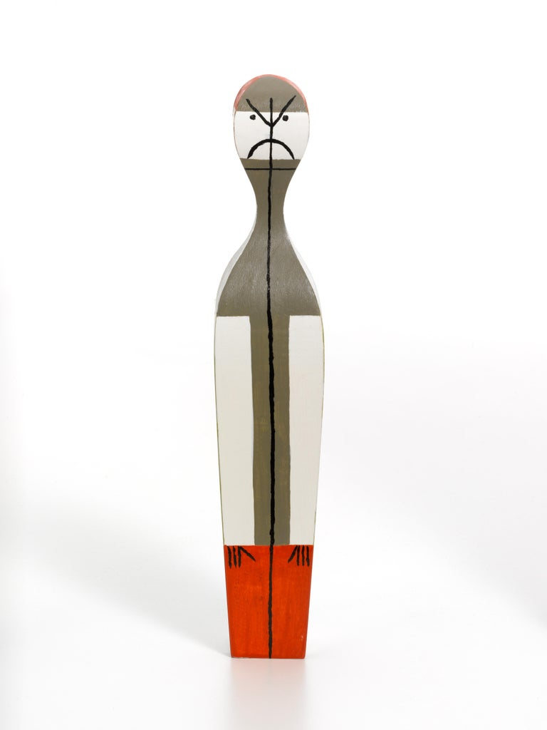 Swiss Vitra Wooden Doll No. 14 by Alexander Girard For Sale