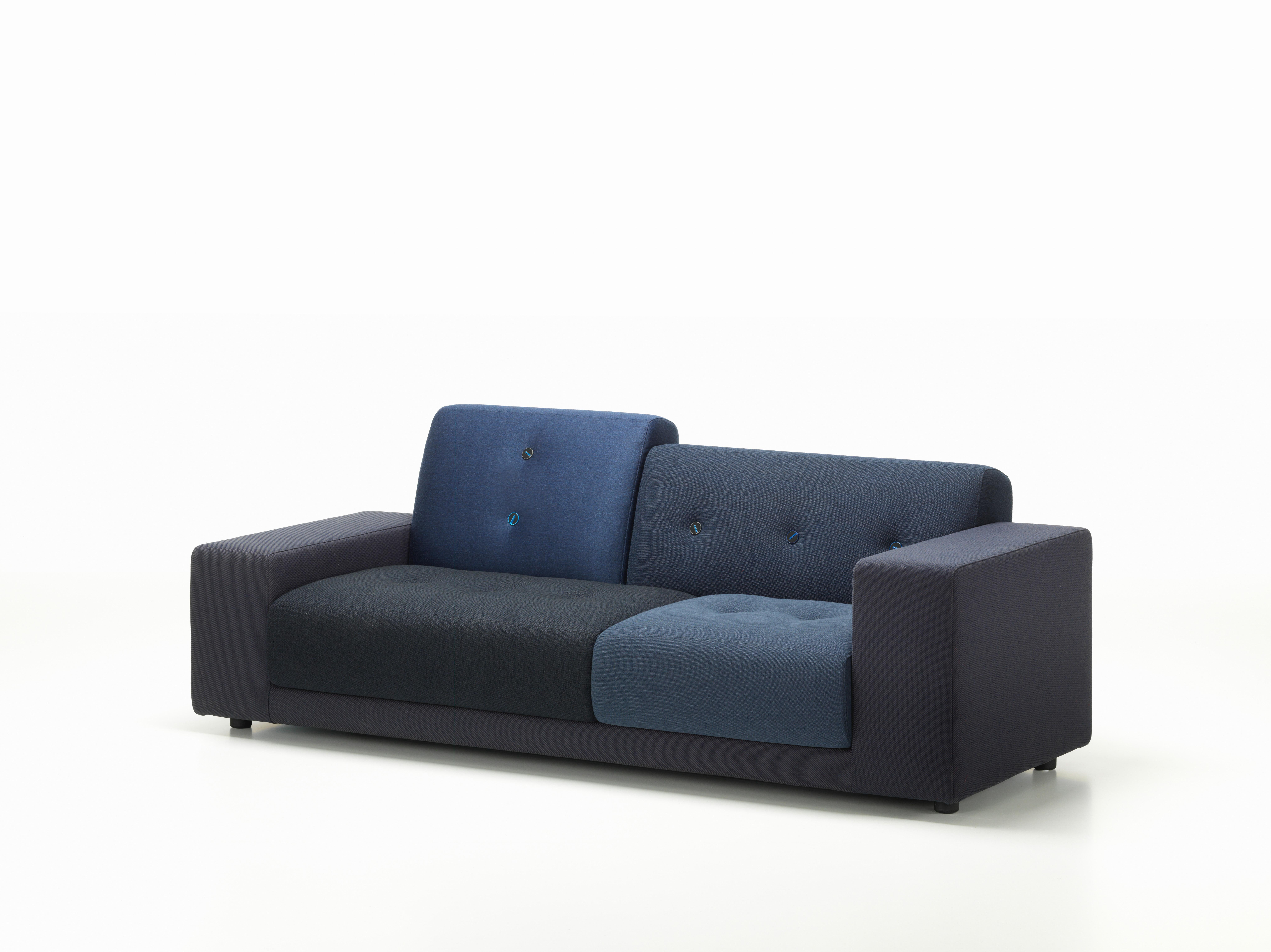 Vitra Polder Compact Sofa In Night Blue Shades By A Jongerius For At 1stdibs