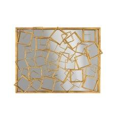 Monterey Mirror in Gold Leaf by Badgley Mischka Home