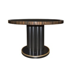 Marmont Game Table in Lacquered Ebony & Wood by Badgley Mischka Home