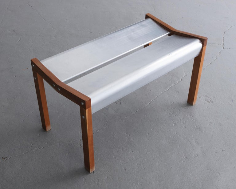 Fantastic Rasamny Bench 2 In Anondized Extruded Aluminum Dark Wood By Ali Tayar 1999 Forskolin Free Trial Chair Design Images Forskolin Free Trialorg